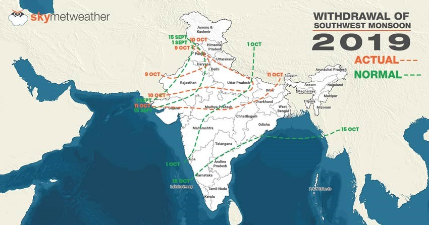 भारत: एक महीने की देरी से विदा हुआ मॉनसून