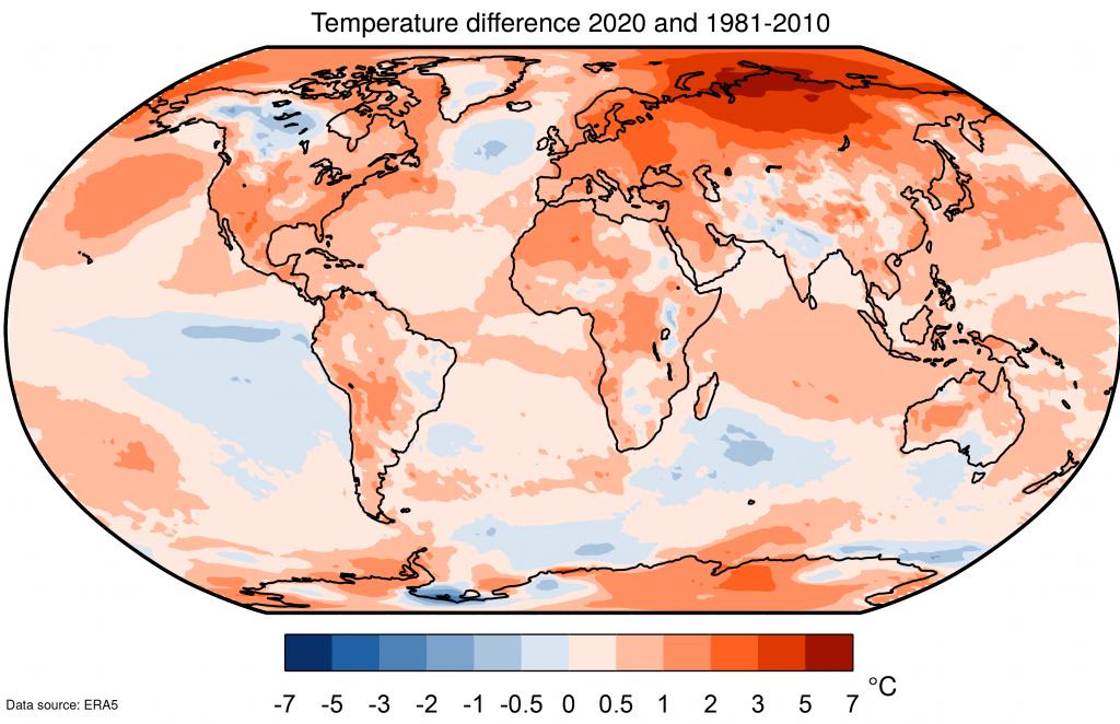 पृथ्वी का सबसे गर्म साल था 2020!